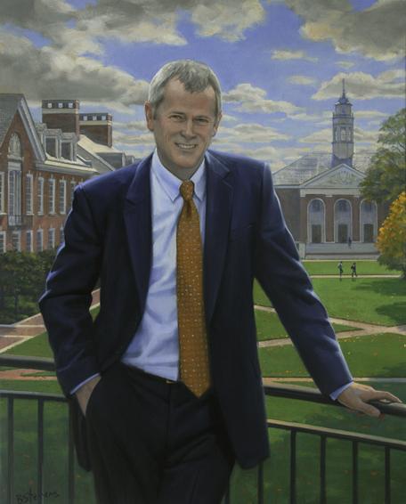 nicholas jones, dean, Whiting School of Engineering, Johns Hopkins University, oil portrait, academic portrait, dean's portrait