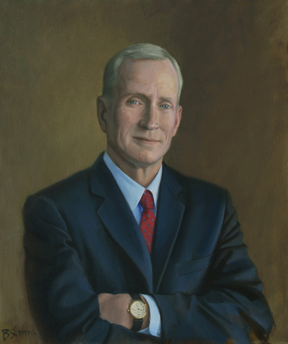 edward a. snyder, dean, Booth School of Business, The University of Chicago, oil portrait, dean's portrait, academic portrait
