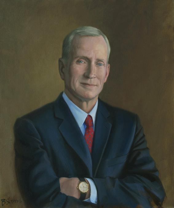 edward a. snyder, dean, Booth School of Business, The University of Chicago, oil portrait, dean's portrait, academic portrait
