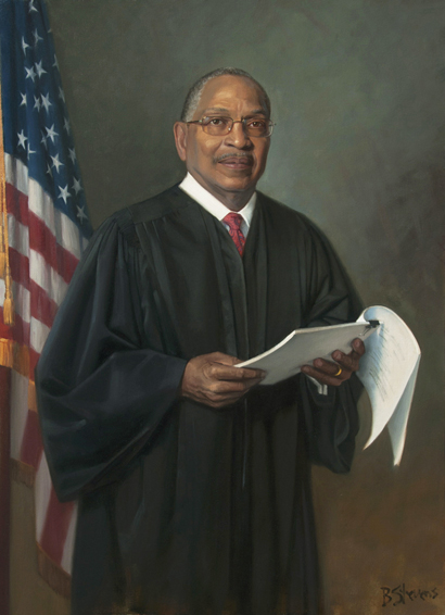 Judge Reggie B. Walton, U.S. District Court judge, U.S. District Court for the District of Columbia, Washington, D.C., U.S. district judge portrait, judicial portrait, African American judge portrait, oil portrait, African American leader
