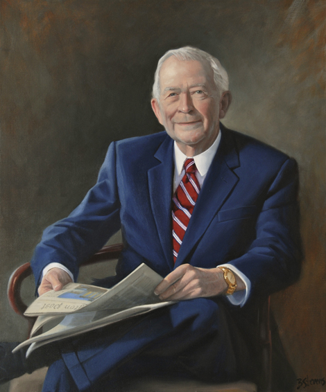 robert ames alden, president, editor, former president, National Press Club, The Washington Post, oil portrait, executive portrait