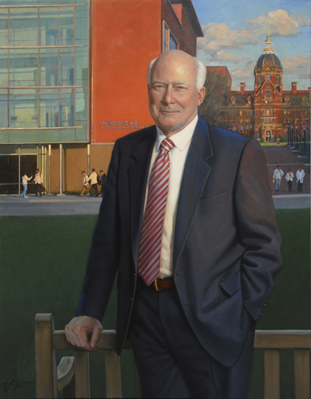 michael armstrong, chairman, Johns Hopkins Medicine, oil portrait, executive portrait