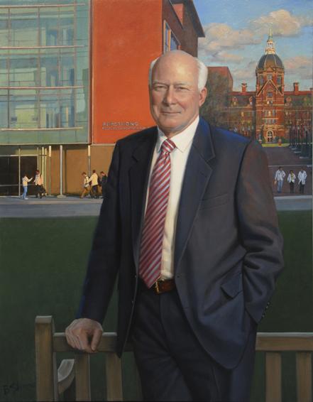 michael armstrong, chairman, Johns Hopkins Medicine, oil portrait, executive portrait