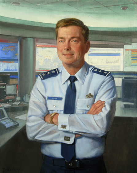 charles e. croom jr., lieutenant general, U.S. Air Force, director, Defense Information Systems Agency, DSIA, oil portrait