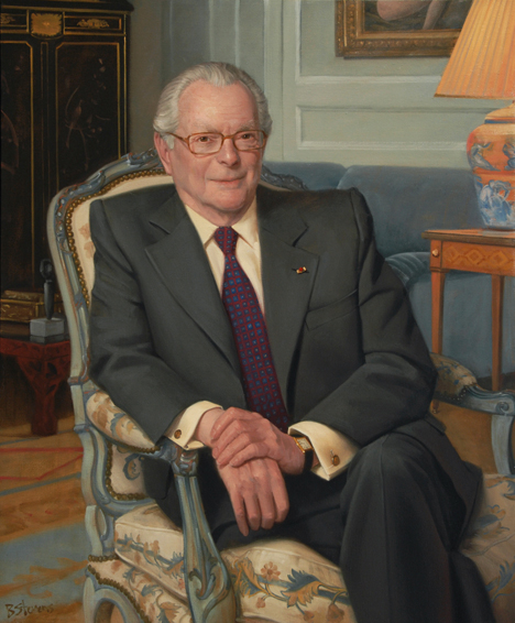 michael david-weill, chairman, banker, Lazard Frères, French executive portrait, oil portrait, chairman's portrait, executive portrait