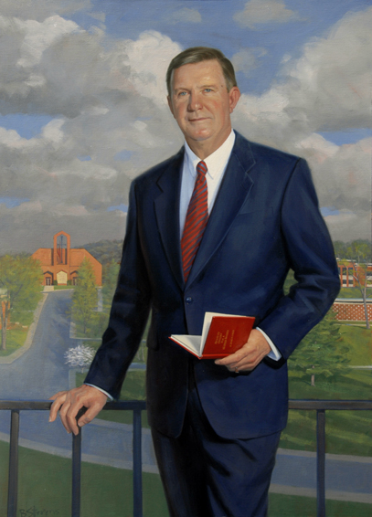 dr. james a. davis, president, Shenandoah University, oil portrait, academic portrait, university president portrait