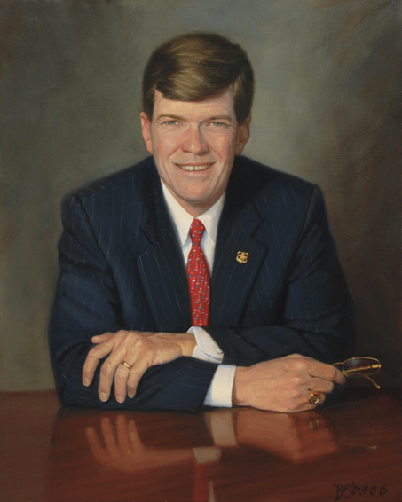 kevin dunbar, president, CEO, Dunbar Armored Inc., oil portrait, chairman's portrait, executive portrait