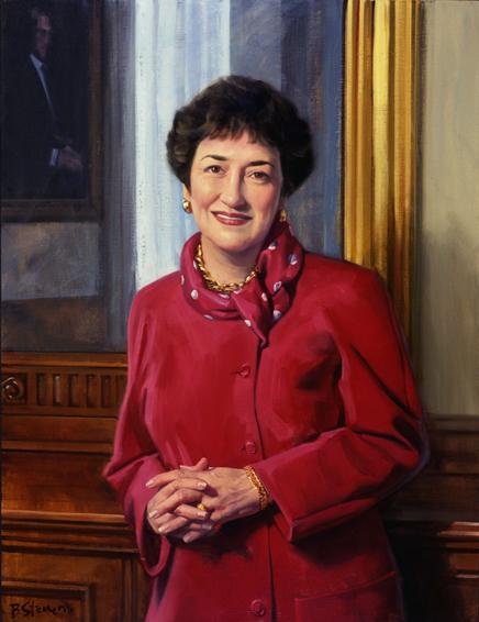 dr. maryann fralic, vice president, nursing, patient care, Johns Hopkins Hospital, oil portrait