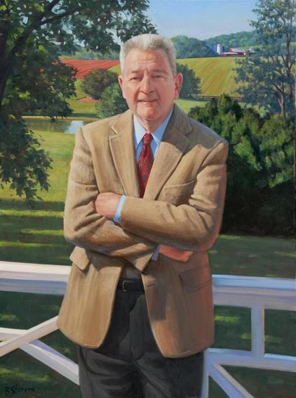 john hazel jr., til, attorney, real estate developer, philanthropist, benefactor, Flint Hill School, oil portrait, philanthropist portrait