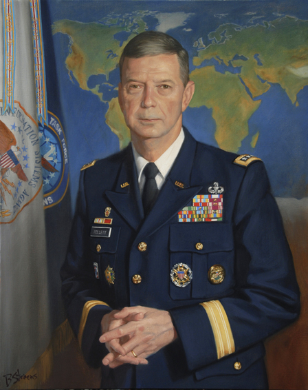 Lt. General Carroll Pollett, lieutenant general, U.S. Army, director, Defense Information Systems Agency, DISA, Fort Meade, oil portrait, military portrait