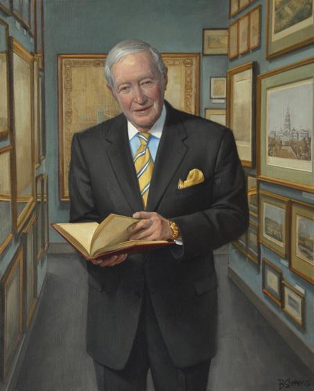 albert small, real estate developer, philanthropist, benefactor, George Washington University, oil portrait, philanthropist portrait