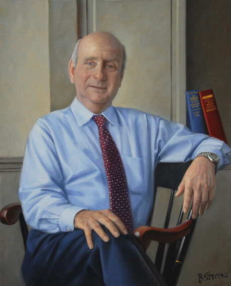 anton vishio, teacher, Gilman School, oil portrait, head of school portrait, academic portrait
