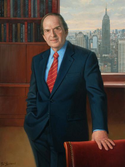 bruce wasserstein, chairman, Lazard Frères, oil portrait, executive portrait, chairman's portrait