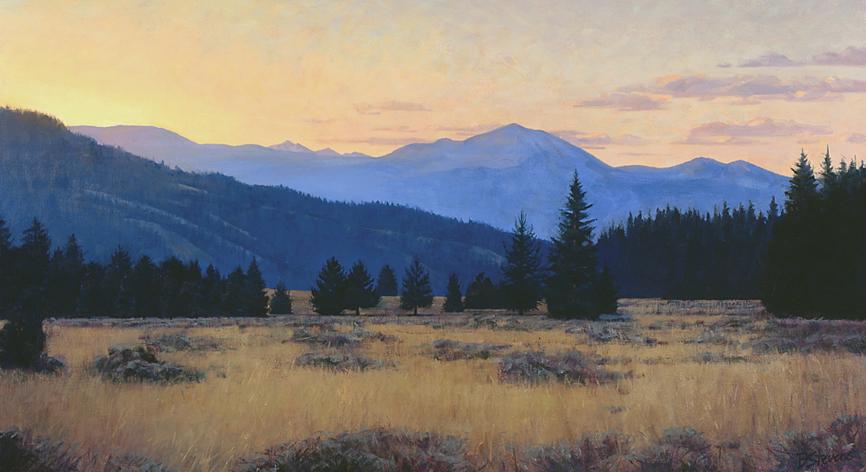 clear morning, jackson hole, landscape painting, oil painting, Western landscape painting, Wyoming landscape, Jackson Hole