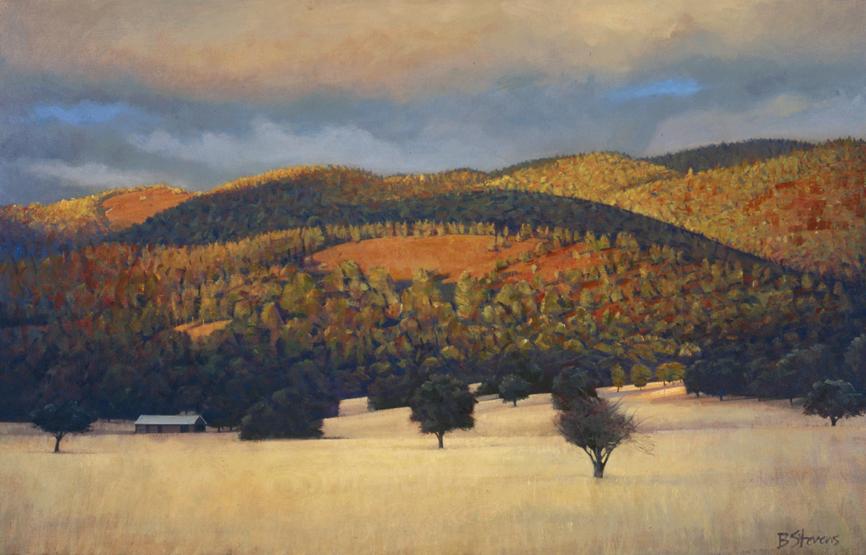 sonoma meditation, landscape painting, oil painting, California landscape, California wine country, Sonoma landscape