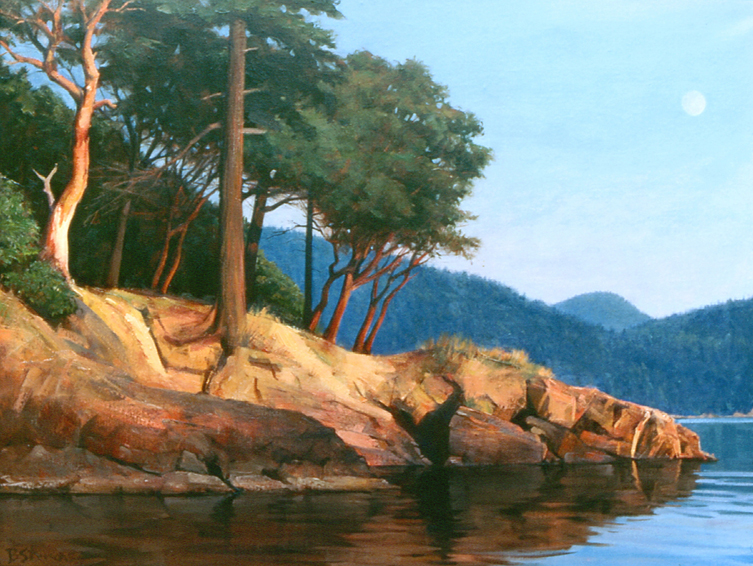 madrona point, landscape painting, oil painting, Orcas Island, Madrona Point Orcas Island, San Juan Islands WA