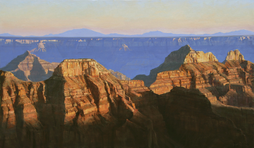 north rim, landscape painting, oil painting, Grand Canyon landscape painting