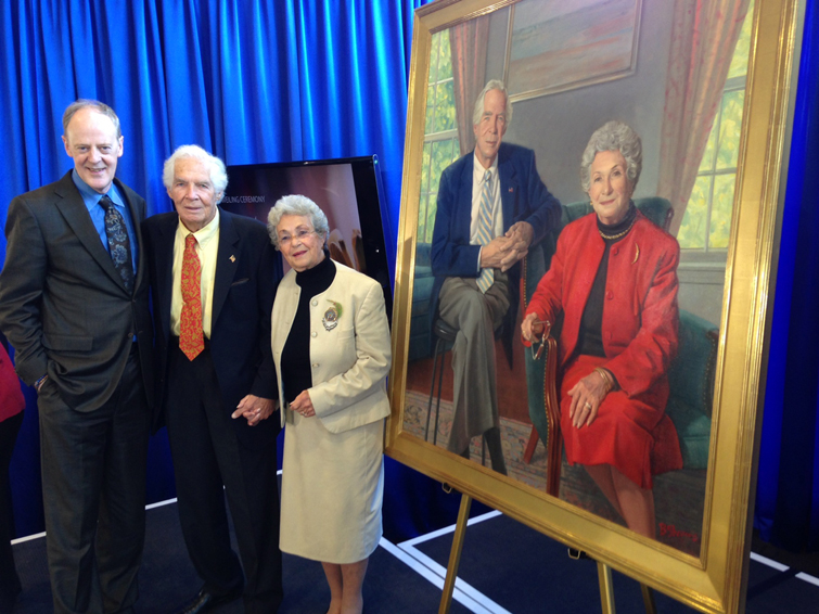 Brad with Dr. Donald and Mrs. Mary Lindberg at the unveiling of their portrait at the National Library of Medicine.